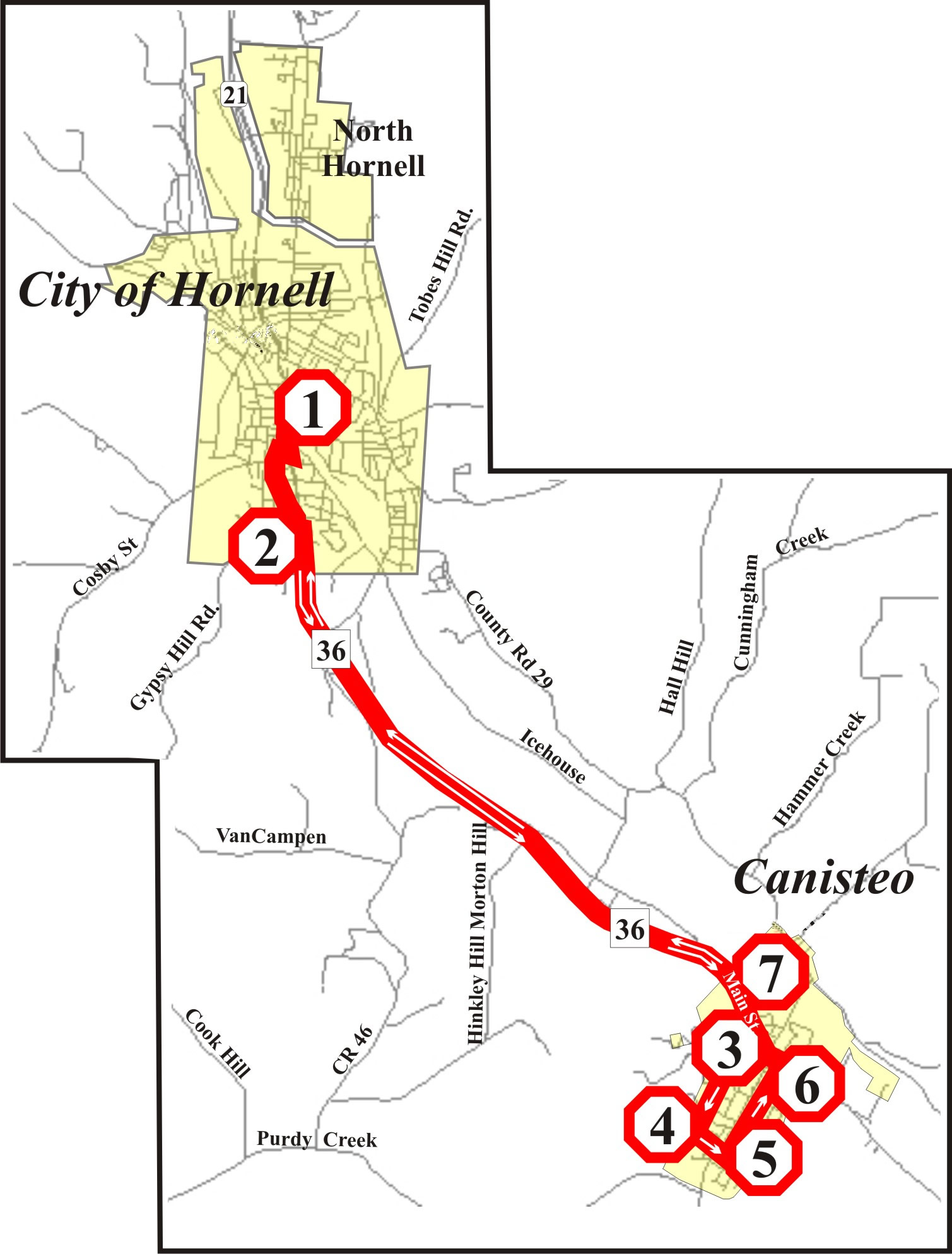 Picture of Canisteo Route Map