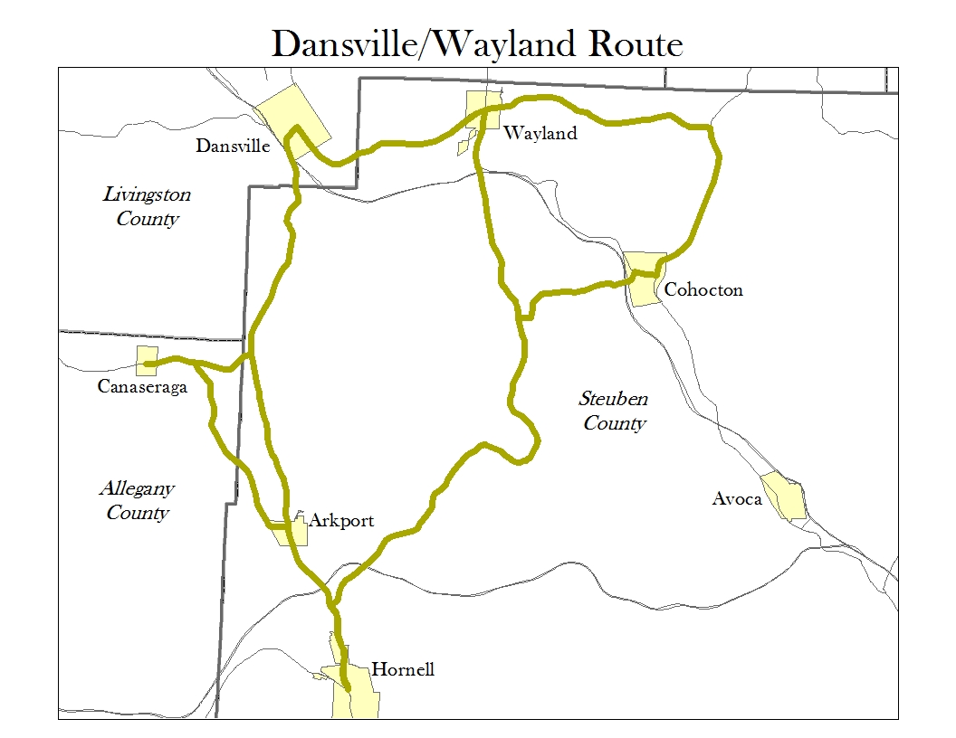 Picture ofDansville, Wayland Route Map